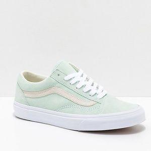 Vans Old Skool Pastel Bay & White Skate Shoes